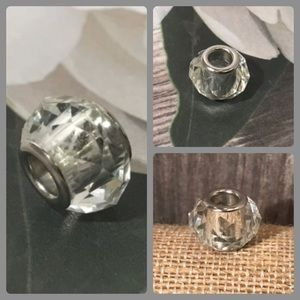 Jewelry - Sterling Silver 925 Clear Cut Glass Bead Pandora